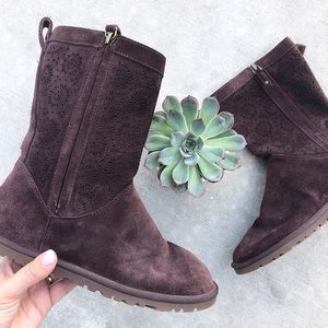 UGG // Lo Pro Short Chocolate Laser Cut Boots